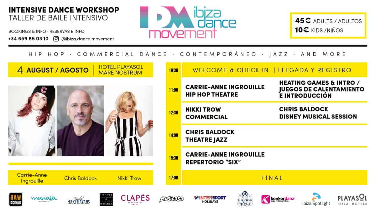Taller de Baile intensivo con Ibiza Dance Movement