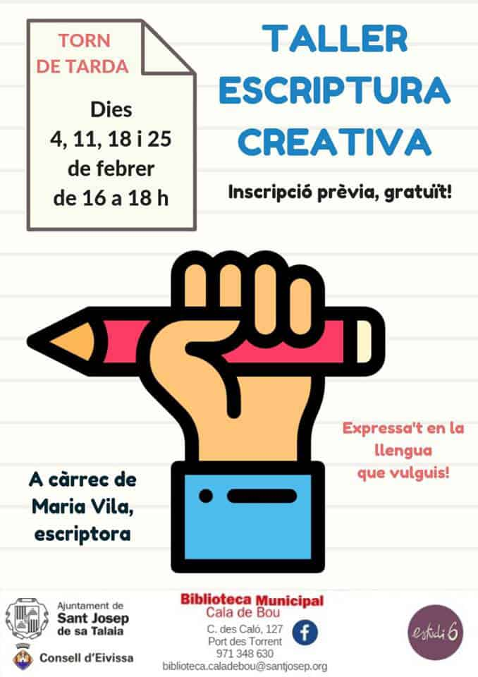New creative writing workshop at the Library of Cala de Bou