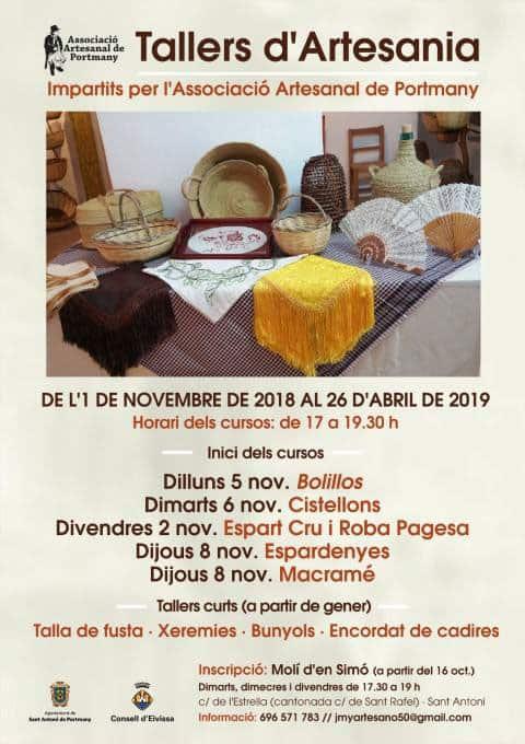 Ibizan handicraft courses in San Antonio