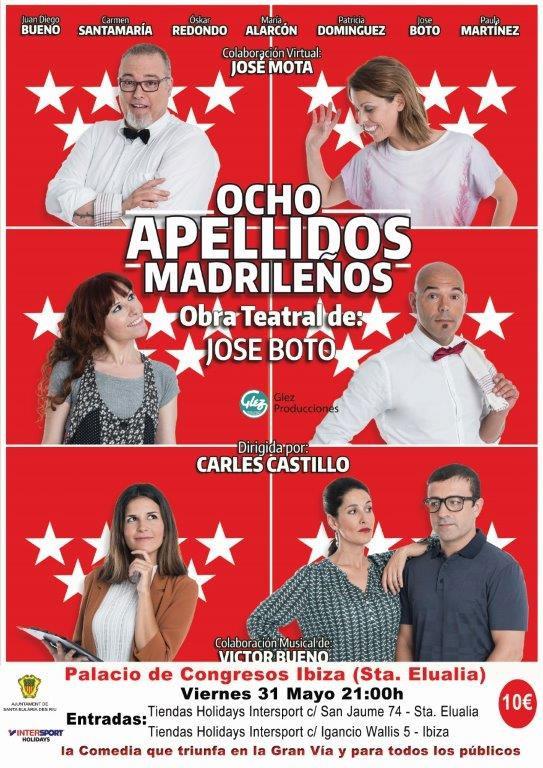 Huit noms de Madrid au Palacio de Congresos de Ibiza