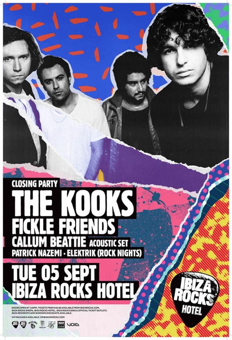 The Kooks ferme la saison d'Ibiza Rocks à Ibiza Rocks Hotel