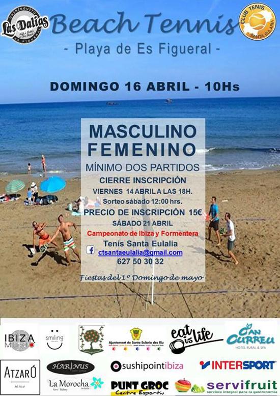 Torneo de Tenis Playa en Es Figueral este fin de semana