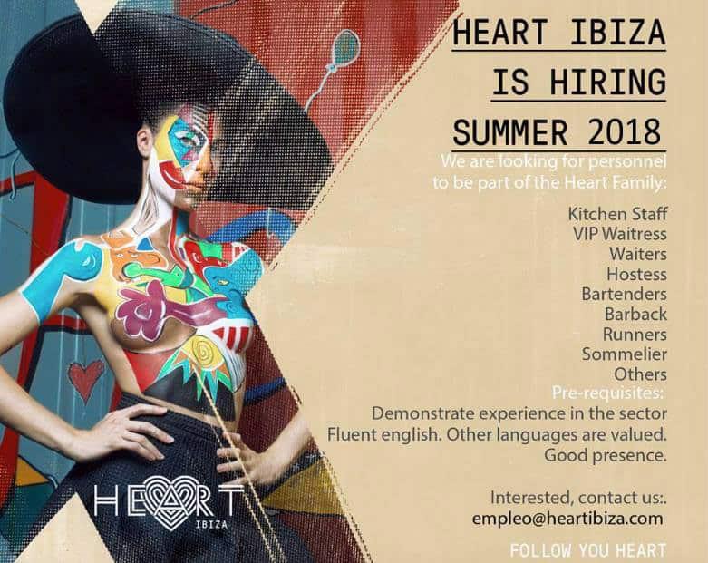 Travailler chez Ibiza 2018: Heart Ibiza sélectionne le personnel