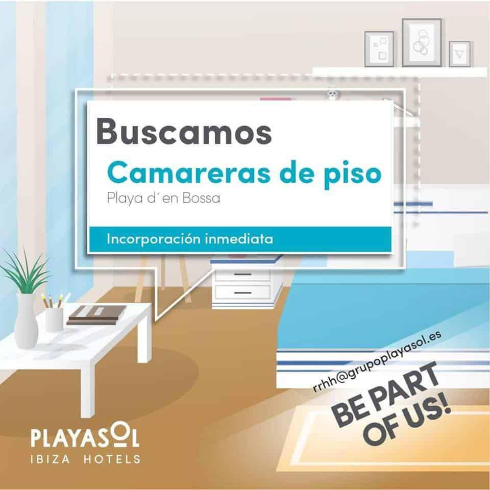 Работа на Ибице 2018: Playasol Ibiza Hotels ищет горничных