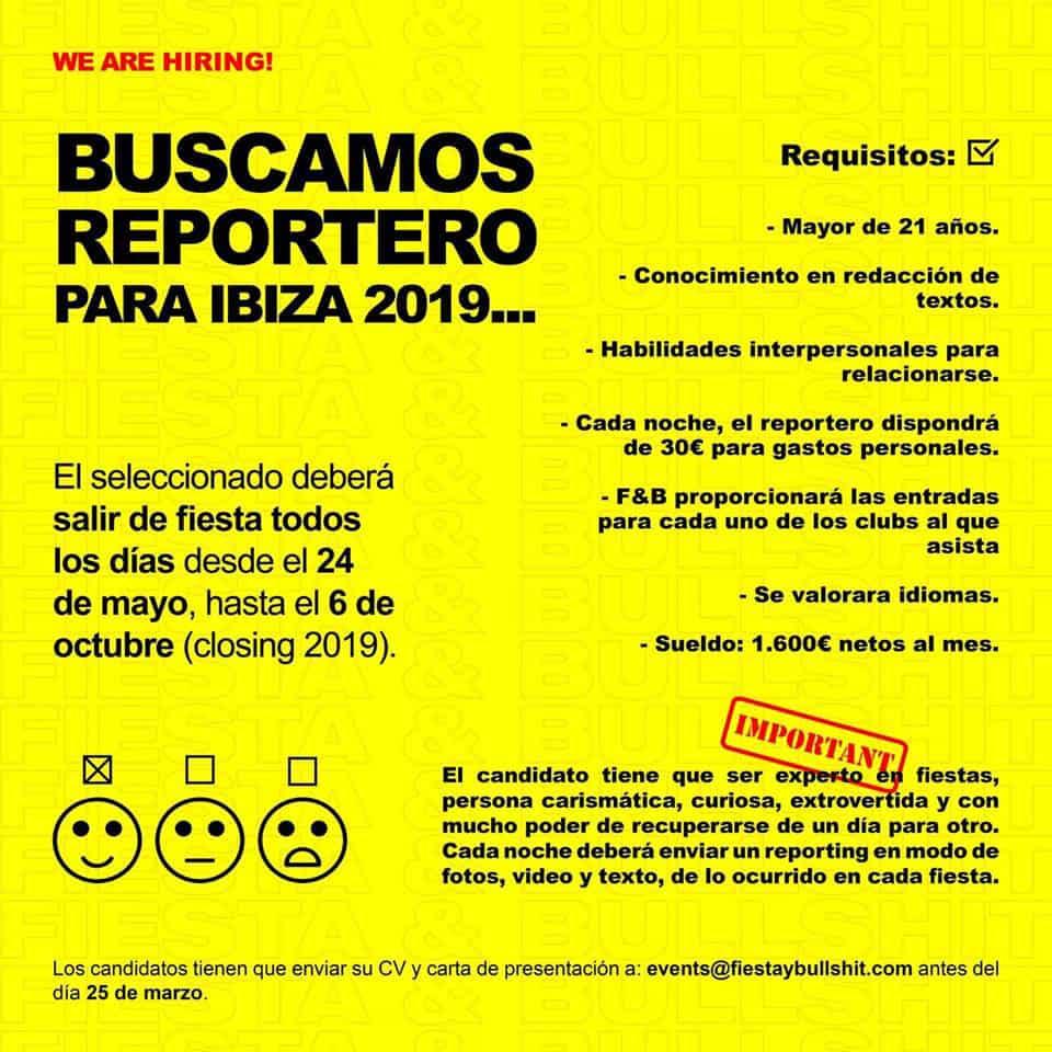 Ich arbeite auf Ibiza 2019: Ich suche eine Person, die jeden Tag feiern gehen möchte