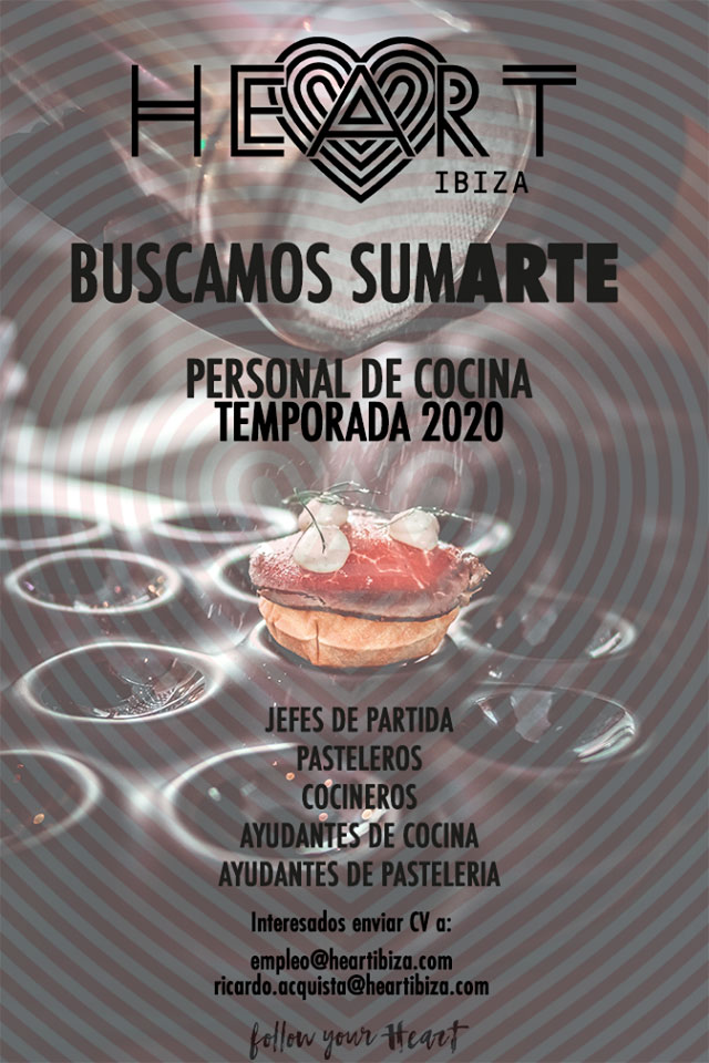 Je travaille à Ibiza 2020: Heart Ibiza cherche du personnel de cuisine