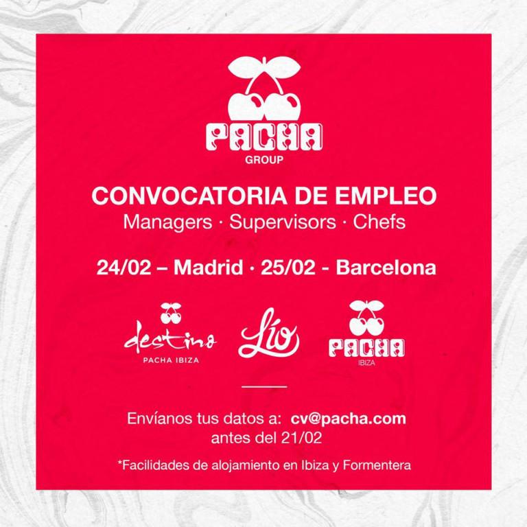 Работа на Ибице 2020: призыв к трудоустройству в Pacha Group
