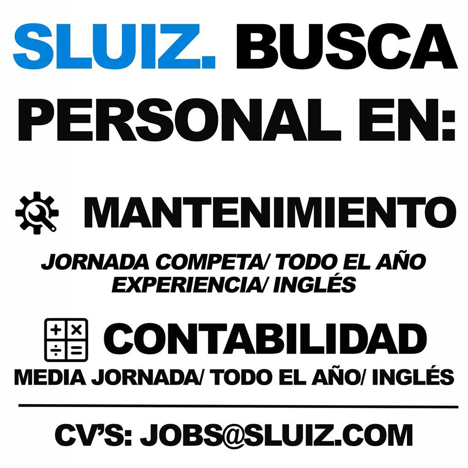 Work in Ibiza 2020: Sluiz seeks Maintenance and Accounting Personnel