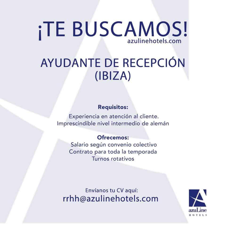 Работа на Ibiza 2018: отель Azuline ищет помощника по приему