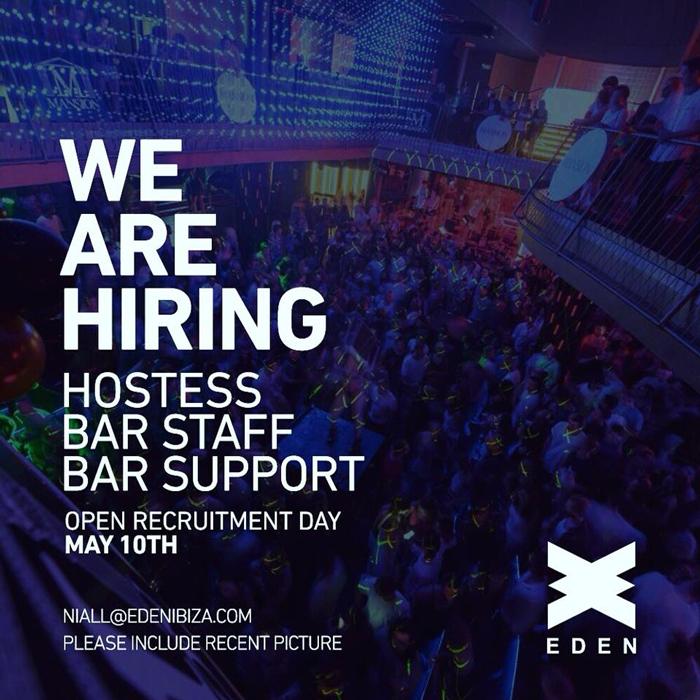Lavorare a Ibiza 2019: La discoteca Eden Ibiza è alla ricerca di personale