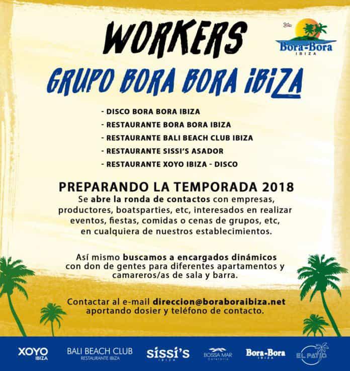 Arbeiten bei Ibiza 2018: Bora Bora Group wählt Mitarbeiter aus