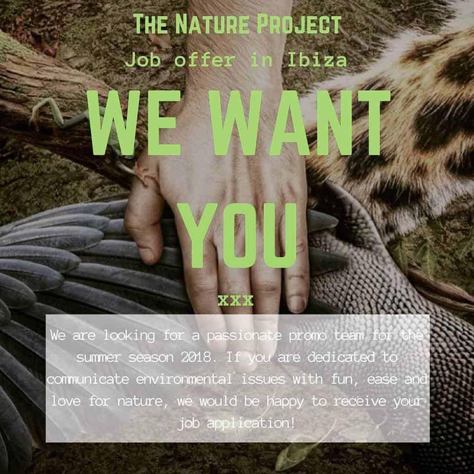 Lavorare a Ibiza 2018: The Nature Project cerca personale