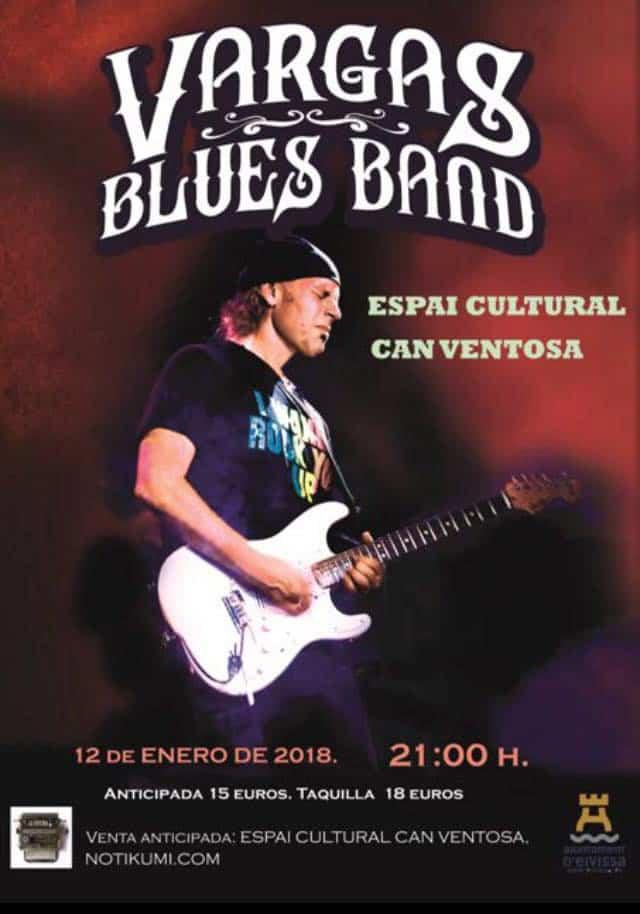 Konzert der Vargas Blues Band in Can Ventosa zum Jahresbeginn