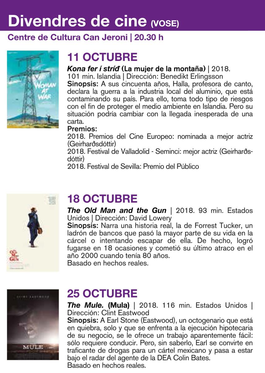 Cinéma en version originale le vendredi à San José
