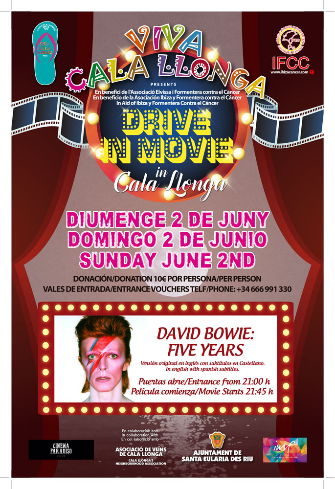 Proyección solidaria del documental sobre David Bowie en Cala Llonga