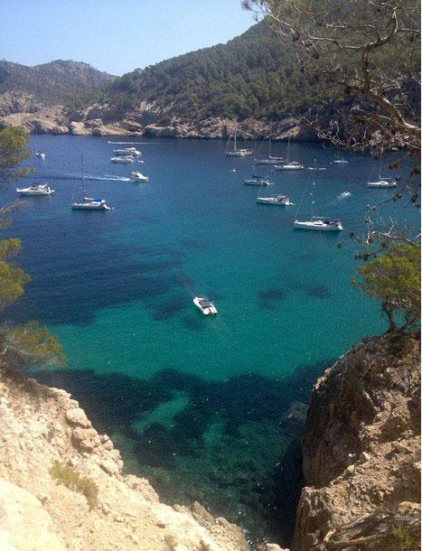 Route via de oude weg naar San Miguel met Walking Ibiza