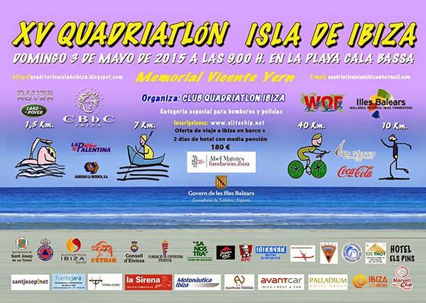 XV Quadriathlon Eiland Ibiza in Cala Bassa: alleen voor de dapperen